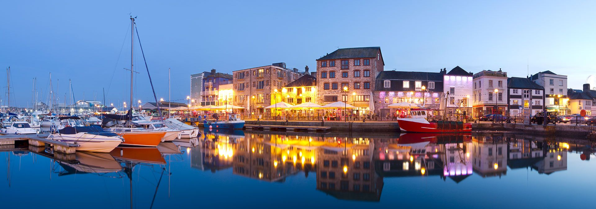 The Barbican Plymouth by Night