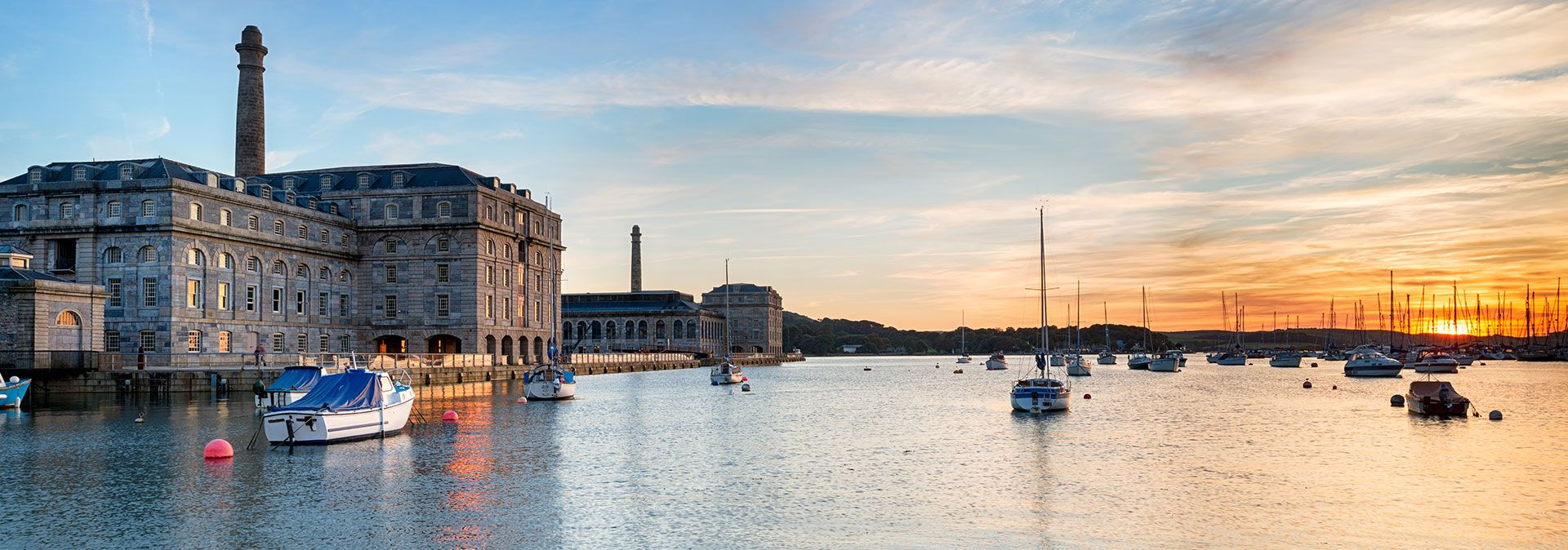 Royal William Yard Plymouth Sunset
